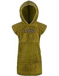 Cor Infantil Poncho toalla Robe luz y oscuro azul para edades 3 - 10 (Verde