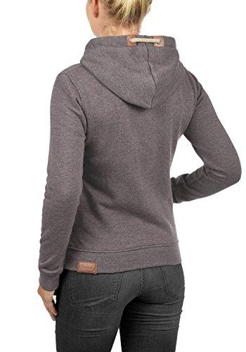 DESIRES Vicky Zip-Hood Damen Sweatjacke Kapuzen-Jacke Zip-Hood aus hochwertiger Baumwollmischung Meliert Sparrow M (5710M)