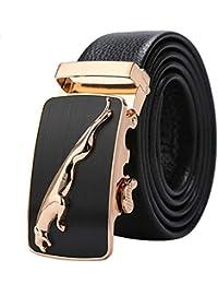 765b164e168e Ceinture Hommes en Cuir Véritable Jaguar Business Suits Casual Boucle  Réversible Avec Cliquet Automatique, ...