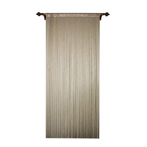 """Preisvergleich Produktbild taiyuhomes Classic Spaghetti String Vorhang für Home Decor und Trennwand mit Ornament pearl-shaped Perlen Design perfekt, wie Fliegengitter, champagnerfarben, 90 x 245cm (35x96"""")"""