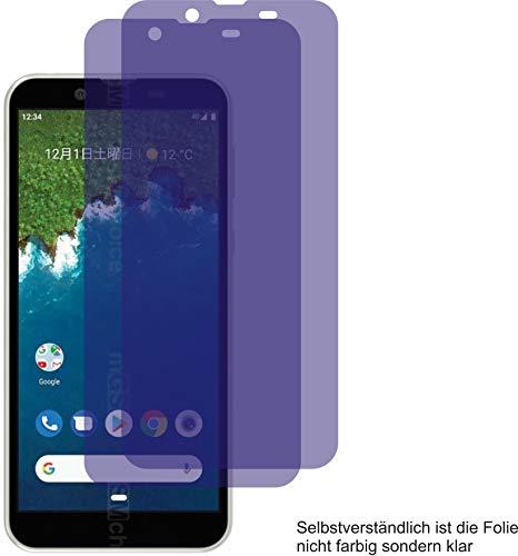 2X ANTIREFLEX matt Schutzfolie für Sharp Android One S5 Displayschutzfolie Bildschirmschutzfolie Schutzhülle Displayschutz Displayfolie Folie