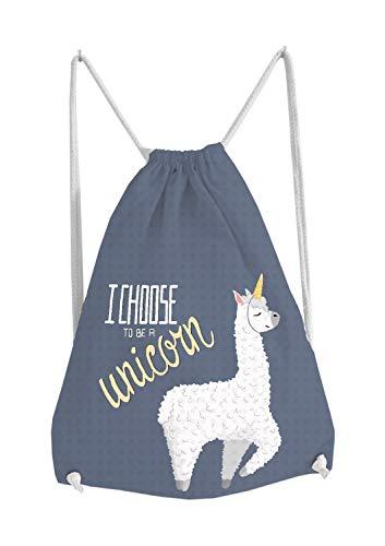 cksack Tasche Turnbeutel Bag Beutel Gymsack mit witzigen lustigen niedlichem Motiv Alpaka Lama Alpaca mit Spruch Unicorn Geschenkidee Ostern Geburtstag ()