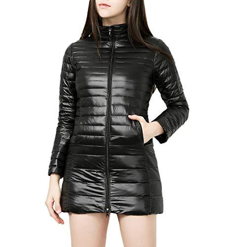 JMETRIC Damen Daunenjacke | Steppjacke| Übergangsjacke Parka| Warme Dünne Daunenjacke Outwear Mantel| Licht Basic…