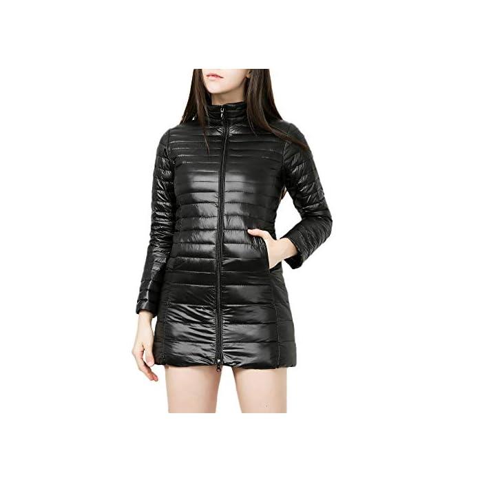 JMETRIC Damen Daunenjacke   Steppjacke  Übergangsjacke Parka  Warme Dünne Daunenjacke Outwear Mantel  Licht Basic…