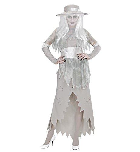 Widmann 98982 - Erwachsenenkostüm Geister Lady, Kleid mit Hut, Umhang, Gürtel und Handschuhe, Größe: M (Lady Gespenst Kostüm)