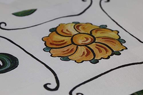 Napking pregiata tovaglia da tavola in puro lino stampata in digitale senza tovaglioli art. floral (rettangolare per 12 cm. 180x270)