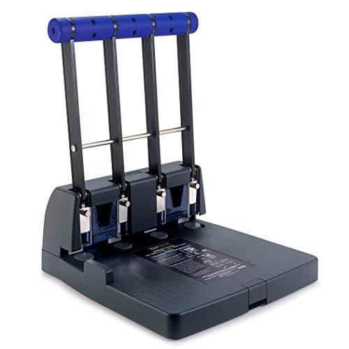 Rapesco PF4000A1 4400 Registraturlocher (4-fach Lochung, etwa 150 Blätter) Kraftlocher Schwarz/Violett