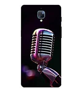 Fuson Designer Back Case Cover for OnePlus 3 :: OnePlus Three :: One Plus 3 (Nice microphone design :: Latest microphone design :: Dark mrophone design :: Microphone clipart design :: Microphone vector design)
