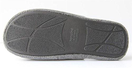 W&XY Pantoufles confortables en coton pour hommes Chaud Hiver Maison Chaussures Gris Slip On Outdoor Bedroom Chaussures simples 40