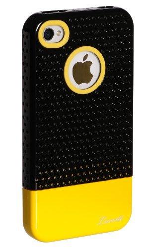 luvvitt Respira Hard Shell Case für iPhone 4& 4S schwarz / gelb