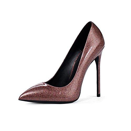 YIXINY Escarpin G0213 Chaussures Femme PU De Haute Qualité + TPR Pointu La Bouche Peu Profonde Amende Talon 10/12cm Talons Hauts