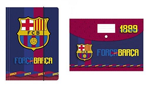 2Stück Hemden A4FC Barcelona Tasche Ordner Hemd FC Barcelona Barca