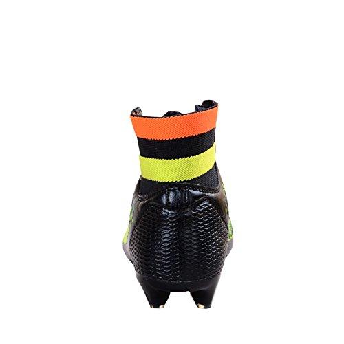 Ben Sports AG / FG Chaussures de Football Compétition Homme Chaussures de football garçon Mixte Enfant,33-46 noir