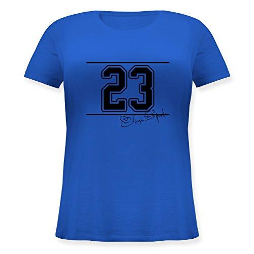 Basketball - College Sports Zahl Oldschool - S (44) - Blau - JHK601 - Lockeres Damen-Shirt in großen Größen mit Rundhalsausschnitt -