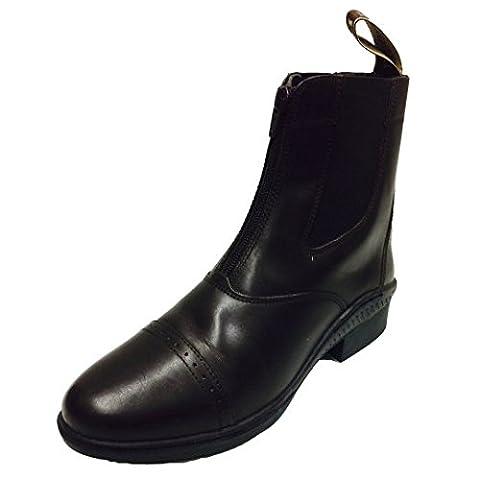 Brogini Front Zip Jodhpur Boots: Black: 38