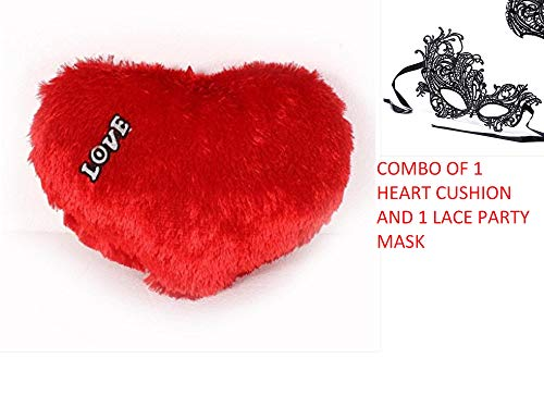 zvr Ized Nature's Love Couple Printed Heart Shape Cushion Covers