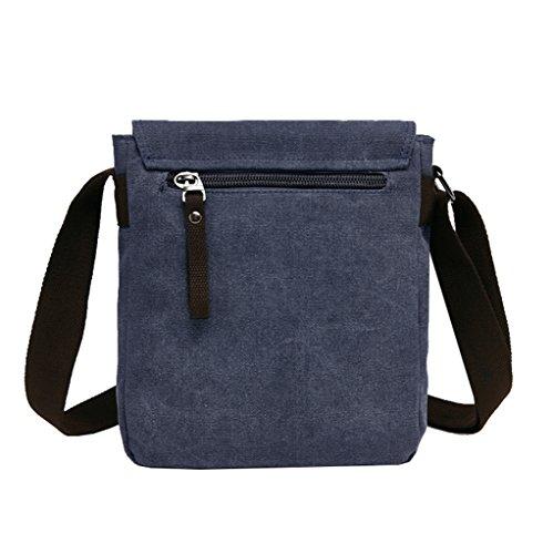 Super Modern Leinwand Messenger Bag Umhängetasche Cross-Body Tasche Cool Stil Schultertasche feinen iPad-Tasche Tasche Schule Tasche für Damen und Herren Blau