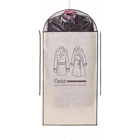 AQPDJ Capa de polvo de sello trajes trajes bolsa colgando abrigos admitir cuelgue la bolsa guardapolvo , grande
