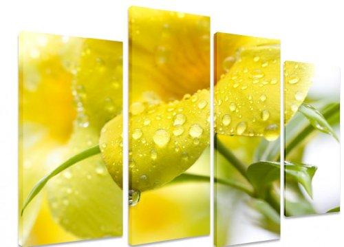 picture-multi-split-panel-canvas-artwork-art-golden-trumpet-vine-rain-drops-yellow-flower-art-depot-