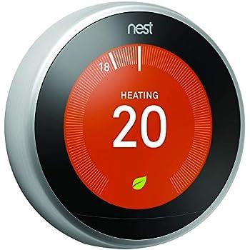 Sensational Nest Learning Thermostat 3Rd Generation Amazon Co Uk Diy Tools Wiring Cloud Scatahouseofspiritnl