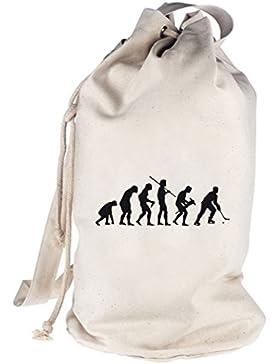 Shirtstreet24, EVOLUTION EISHOCKEY, Sport bedruckter Seesack Umhängetasche Schultertasche Beutel Bag