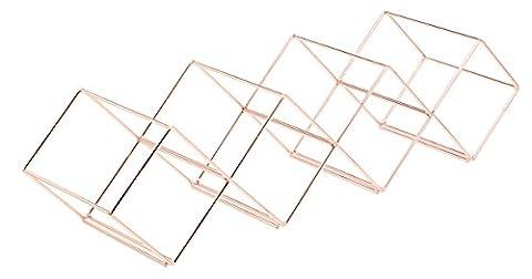 Bar Craft Weinregal, 58 x 14,5 x 14,5 cm, 7 Flaschen, stapelbar (Stapelbare Teile)
