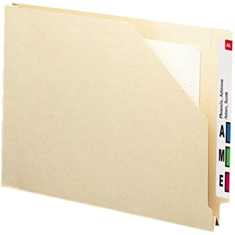 Hvwt End Tab File Pocket w/1 1/2 Accordion Expansion, Ltr, 14 Pt. Manila, 50/Bx, Sold as 1 Box