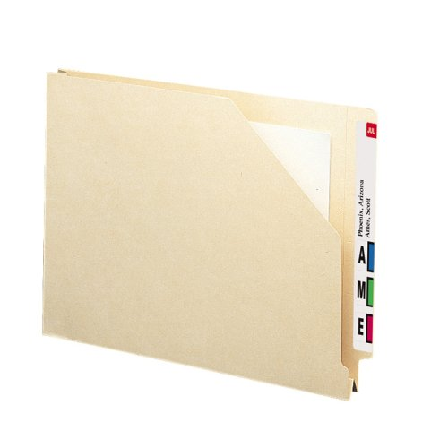 End Datei-jacke Tab (SMEAD Ende Tab Datei Jacke, shelf-master ® verstärkte gerade geschnittene Tab, 1–1/5,1cm Expansion, Letter Size, Manila, 50pro Box (75740))
