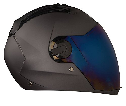 Steelbird Sba-2 Supreme Glossy Black Stylish Helmet For Bikers - Free Transparent Visor For Night Vision (Large- 600Mm,580Mm Black Golden Visor)