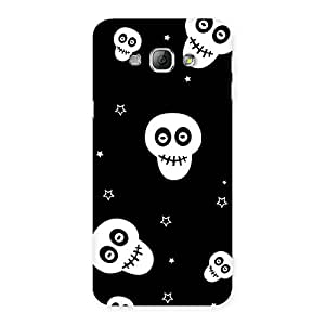 Premium Skull Star Back Case Cover for Galaxy A8