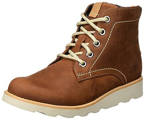 Clarks Jungen Dexy Top Jnr Stiefel, Braun (Brown Leather), 34