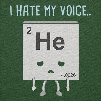 NERDO - I hate my Voice - Herren T-Shirt Flaschengrün