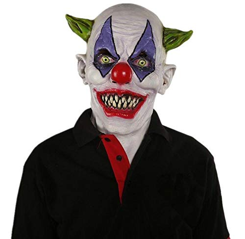 Littlefairy Halloween mask,Halloween Haunted House Dress up Chamber of Secrets Escape Clown Latex Mask
