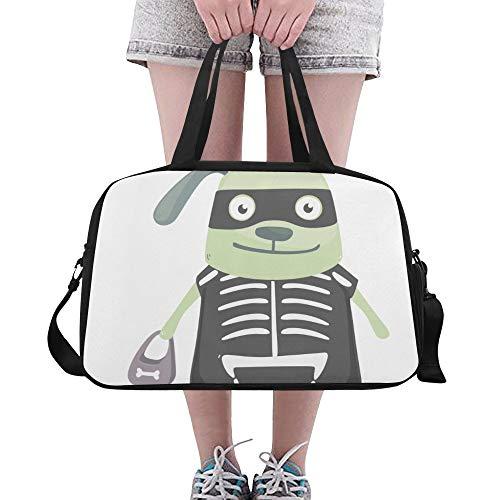 Plosds Grüner Hintergrund Hund Große Yoga Gym Totes Fitness Handtaschen Reise Seesäcke Schultergurt Schuhbeutel Für Übung Sport Gepäck Für Mädchen Männer Frauen ()