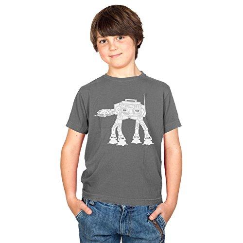 TEXLAB - AT AT Boombox - Kinder T-Shirt, Größe S, grau