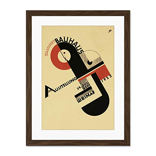 Exhibition Bauhaus Weimar Icon Germany Vintage Large Art Print Poster Wall Decor 18x24 inch Supplied...