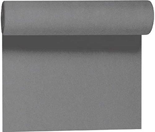 Duni Tête-à-Tête-Tischläufer aus Dunicel alle 120 cm perforiert, Uni granite grey, 40 x 2400 cm