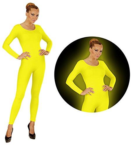 Widmann Neon Gelb Body Einteiler Jumpsuit Sport Tanz Kostüm Damen (Tanz Kostüm Preiswert)