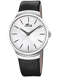 Lotus Watches Reloj Análogo clásico para Hombre de Cuarzo con Correa en  Cuero 18498 1 a06c1d8b8573
