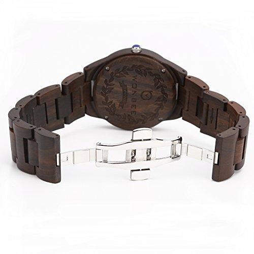 5bfbd7bb845f Mejor Ahorro Para Reloj de madera Wonbee para hombres y mujeres ...
