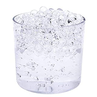 Trimming Shop Clear Water 5G Aqua Crystal, Soil, Bio-Gel Ball, Water Beads, For Home Kitchen, wedding Birthday Party, Wedding Vase Centrepiece, 20 Packets