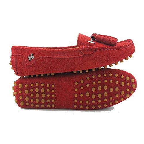 Minitoo ,  Damen Durchgängies Plateau Sandalen mit Keilabsatz Rot