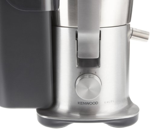 Kenwood JE850 - Licuadora, 1500 W, 3 L pulpa, 1.5 L zumo, acero inoxidable, plateado