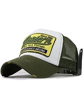 Trucker Mesh Baseballcap Western New York Distressed Snapback Vintage used Look Retro Sommer Oldschool Kappe Mütze...