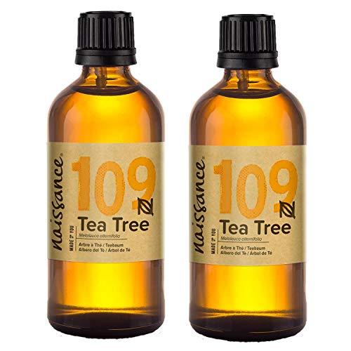 Naissance Aceite Esencial de Árbol de Té n. º 109 - 200ml (2x100ml) - 100{db115fdbc53413bc0c5a89c8dcb16dc8e8827689befe9c65db57c48ad18fd792} Puro, vegano y no OGM