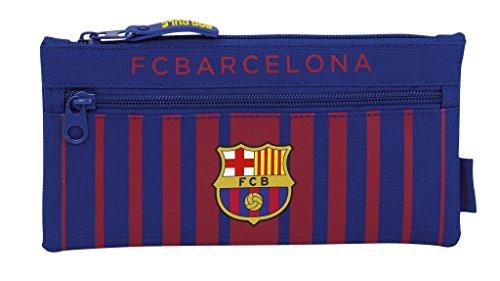 Safta Estuche Doble Cremallera F.C. Barcelona 17/18 Oficial Escolar 230x110mm