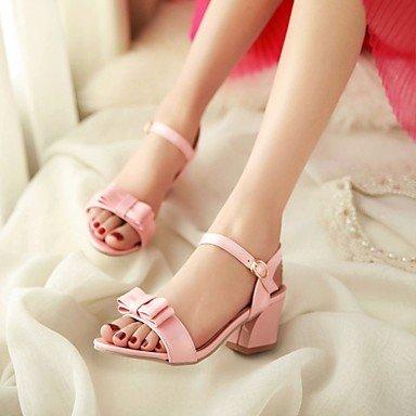 LvYuan Da donna-Sandali-Casual Serata e festa Formale-Altro-Quadrato-Vernice-Nero Verde Rosa Bianco Beige White
