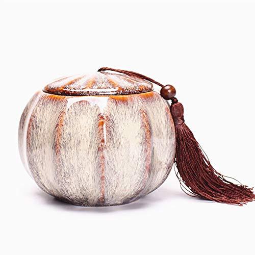 Creativo ceramica contenitori di tè,caffè zucchero vasi di immagazzinaggio vasi di spezie per home collezione regali-e 12x9cm(5x4inch)