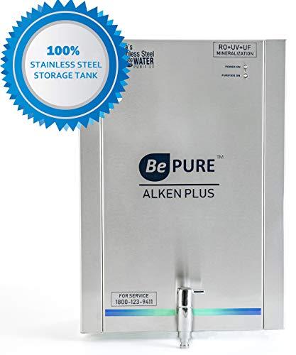 Bepure ALKEN+ India's First 100% Stainless Steel Storage RO+UV+UF+TDS+Mineralization Water Purifier (No Harmful Plastic Storage)