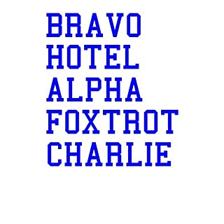 Bravo Hotel Alpha Foxtrot Charlie: Brighton Football Team Notebook Soccer Fan Journal 6x9 inch 120 Page Lined Stationery